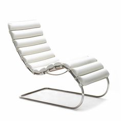 Deckchair MR - Knoll - Model MR in Volo White