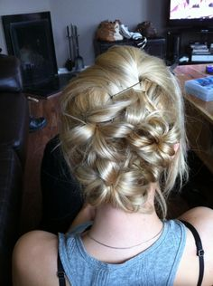 Flower style, romantic updo, updo, hairstyle,