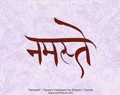 Namaste sanskrit calligraphy