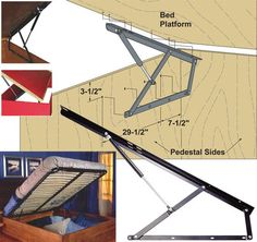 DIY kit for lift bed, up to heavy double size.: