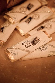Chocolate autumn wedding favors