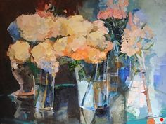 {{FASO-SAFE-WORKS-IMAGE-URL-S-ALT}} Hydrangeas, Still Life, Oil On Canvas, Gallery, Floral, Artwork, Artist, Painting, Image