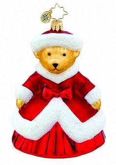 Muffy White Christmas Christopher Radko Ornament