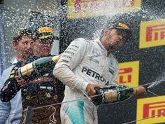 Race Winner Lewis hamilton at the 2016 #F1 #Austrian Grand Prix @ Red Bull Ring in Spielberg Austria