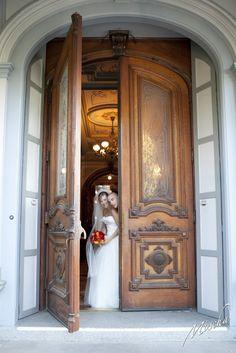 The Crocker's historic entrance, Joanna + Ryan 2011. Shot by Mischa Photography.