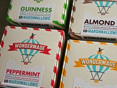 Wondermade Marshmallow Packaging by The Heads of State and printed by Studio on Fire