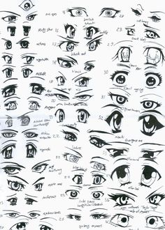 how to draw anime | Anime Eyes