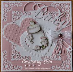 adorable card for the birth of a girl...luv all the details, especially the die-cut diaper pins...