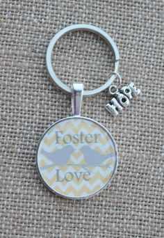 FOSTER LOVE foster parents cabochon chevron Key by ItsHammerTime