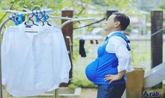 Japanese politicians wear 'pregnancy' vests