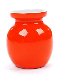 1970s Retro Orange Vase