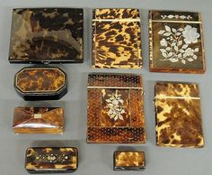 Group of card cases and snuff boxes - Sold for 1,900