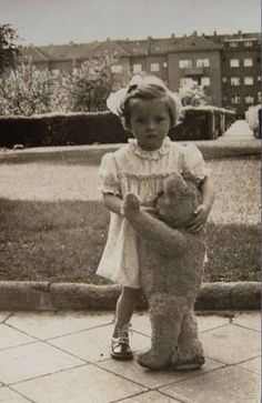 Vintage photo...Lovely little girl with her dance partner....precious!