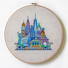Pretty Little New York - Modern Cross stitch pattern by SatsumaStreet