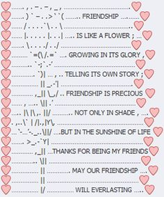 Colorful friendship text art with Emoji emoticons Emoji Pictures, Text Pictures, Text Message Art, Friendship Text, Emoticons Text, Funny Emoji Texts, Emoji Stories, Keyboard Symbols, Text Symbols