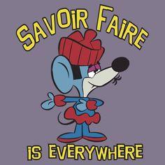 Savoir Faire from Klondike Kat. Used to watch this cartoon as a little kid Old School Cartoons, Retro Cartoons, Vintage Cartoon, Classic Cartoons, Funny Vintage, Vintage Toys, Classic Cartoon Characters, Cartoon Tv, Cartoon Shows