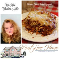Oh My Heartsie Girls Wordless Wednesday // Ultimate Cheesy Baked Spaghetti //This fabulous baked spaghetti is comfort in a casserole dish! By using Rotini noodles, it is kind of like spaghetti and kind of like lasagna. Throw the mixture in the oven with a mountain of cheese on top and it is kind if like Heaven!  http://www.mustlovehome.com/cheesy-baked-spaghetti/  #Recipesharing