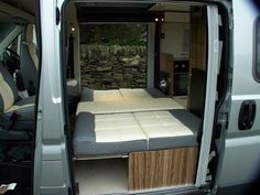 The rear seats fold into a double bed