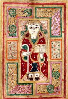 Some images from a late 9th early/early 10th century Irish illuminated manuscript known as the Mac Durnan Gospels. The manuscript was probably commissioned by Máel Brigte mac Tornáin (Mac Durnan), an abbot of Armagh, who died in 927 AD. Shortly...