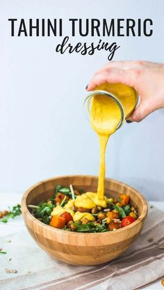 Turmeric tahini salad dressing (use white vinegar instead of lemon?)