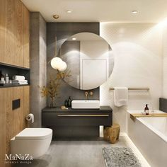 The bathroom is an essential part of the house, where it is good to take care of yourself and relax to fill with serenity. Discover our instructions for a Zen bathroom with our 8 decorating ideas: you have beautiful hours… Continue Reading → Bathroom Design Luxury, Bathroom Layout, Modern Bathroom Design, Zen Bathroom, Laundry In Bathroom, Small Bathroom, Bathrooms, Bad Inspiration, Bathroom Inspiration