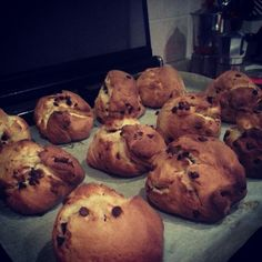 Homemade bread with chocolate