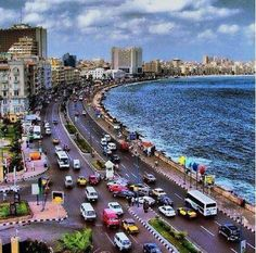 Corniche Street in Alexandria 2 Places Around The World, Travel Around The World, Around The Worlds, Egypt Travel, Africa Travel, Visit Egypt, Valley Of The Kings, Egypt Today, Luxor