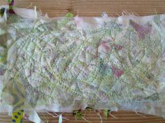 How to make your own fabric using water soluble fabric.