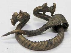 VIKINGS-BRONZE-Classic-FIBULA-BROOCH-Mens-Jewelry-dragon-head