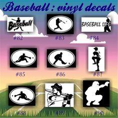BASEBALL Vinyl Decals Vinyl Sticker Custom Baseball - Custom die cut vinyl car decals