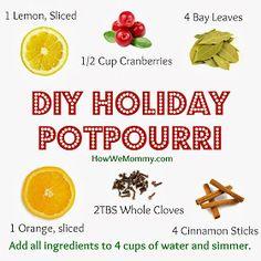 DIY holiday stove top potpourri