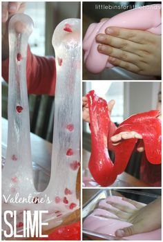 Make this quick and easy Valentines slime for a great science lesson and awesome sensory play. Valentines slime is simple fun for any day!