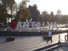 Sign in old town area. Antalya, Turkey.