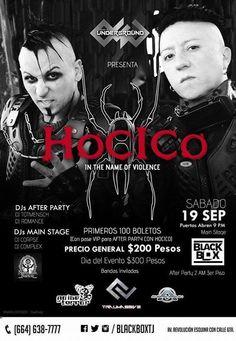 HOY se presenta Hocico Official en el Black Box Tijuana. #Eventos Quién va a ir?  Info: http://tjev.mx/1GAiU28