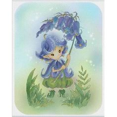 bluebell sprite - grille point de croix  - lena lawson needlearts