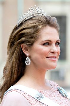 Princess Madeleine of Sweden, arrives at The Royal Chapel, at The Royal Palace in Stockholm for The Wedding of Prince Carl Philip of Sweden and Sofia Hellqvist on June 13, 2015 in Stockholm, Sweden