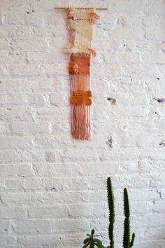 Nara: naturally dyed wool wall weaving