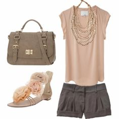 Love the color combo!  Coral&Grey <3