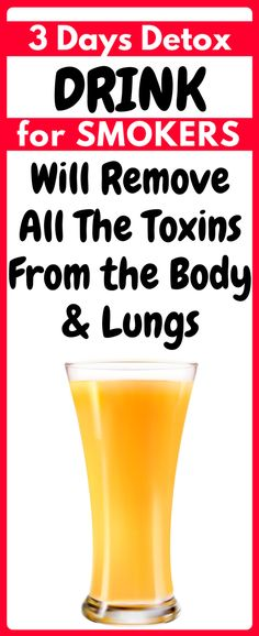 SMOKERS : You Can Remove Toxins From the Body In 3 Days | Healthy Eon #detoxtea #detoxwater #detoxdrink #drinks #toxins