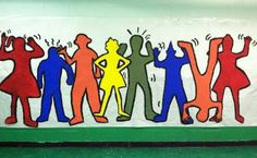 A Keith Haring Mural would get everyone's attention during YAM! Bulletin Boards to Remember: January 2012