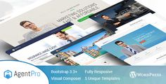 Agentpro - Exclusive Agents/Agency Landing Page Theme . AgentPro is a Wordpress Landing page Theme for different kind of agents includes 5 landing Pages Modern, Clean & Mobile friendly Design, Whether you are looking for conversion optimized landing pages, AgentPro is the best online marketing wordpress theme you will ever need to create