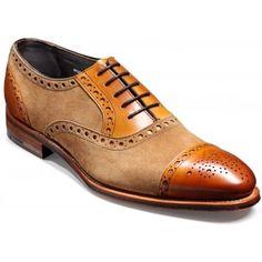 Barker Dover Cedar Calf & Snuff Suede Brogue Shoes
