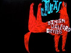 Clive Hicks-Jenkins artwork. Wrap-around cover artwork for 'Judas' by Damian Walford Davies, forthcoming from Seren