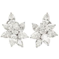Real Diamond Earrings, Diamond Chandelier Earrings, Stud Earrings, White Gold Studs, White Gold Diamonds, Diamond Tops, Antique Bracelets, Marquise Diamond, Pear Shaped Diamond