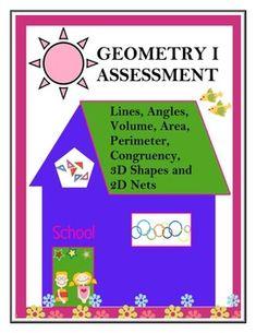 Geometry I Assessment  - CCSS