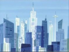 Powerpuff Girls Cityscape (Evening)