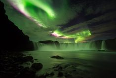 lightning strikes - the waterfall of the gods / Goðafoss Iceland Nikon D810 with 14-24mm f/2.8G ED AF-S NIKKOR