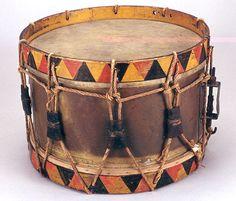 NMM 10,042.  Side drum, France, ca. 1850-1900