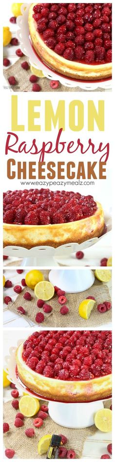 An easy to make lemon raspberry cheesecake. This beautiful dessert is perfect for Spring, make it for Mother's Day! - Eazy Peazy Mealz