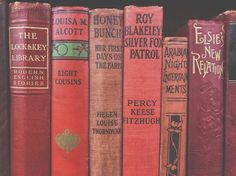 Vintage Reds. Olds books by color, what's not to love?!